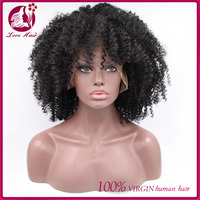 2016 Wholesale Price Afro Curly Full Lace Human Hair Wigs Glueless Lace Front Wigs With Ponytail Vietnamese Cosplay Afro Wigs