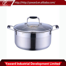 High Quality Stainless Steel Cookware Casserole with Glass Lid