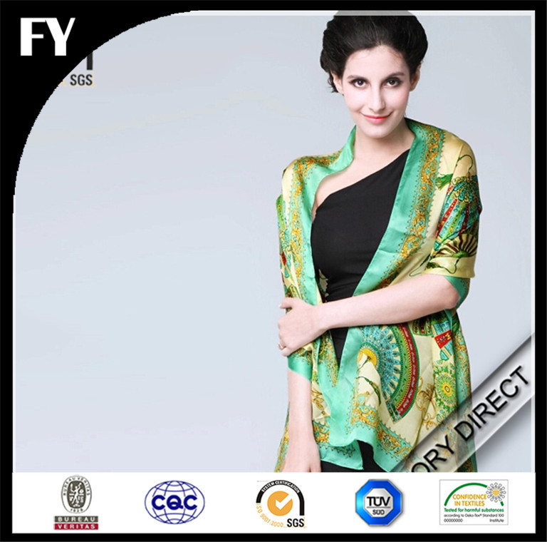 Digital Print High Quality Shawl For Evening Dress Made In China