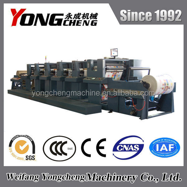 YC1000RY High Quality Multi Color 4 color flexo non woven bag printing machine