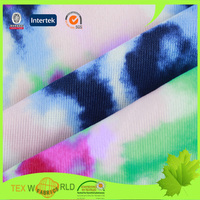 85% nylon 15% lycra floral digital printed fabric