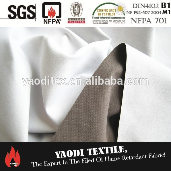 FR 3 pass coating linen blackout fabric for curtain
