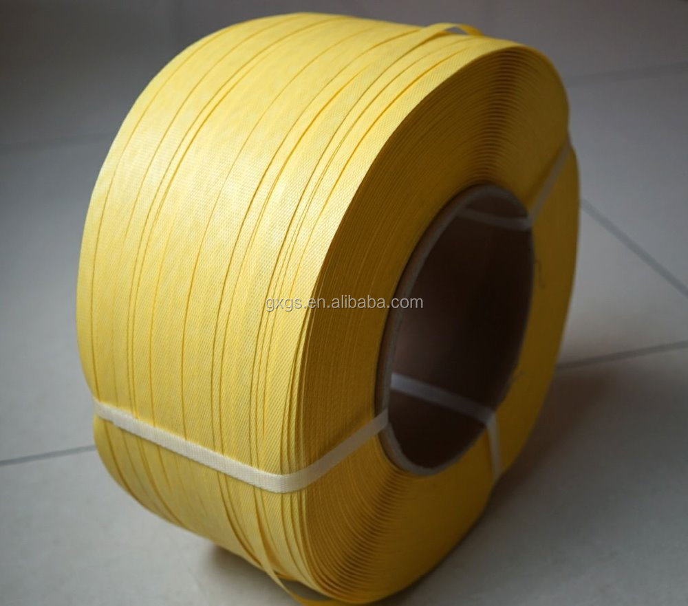 hot sale high strength yellow white plastic pet strap rolls