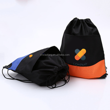 Eco waterproof material cheap drawstring bag/polyester backpack