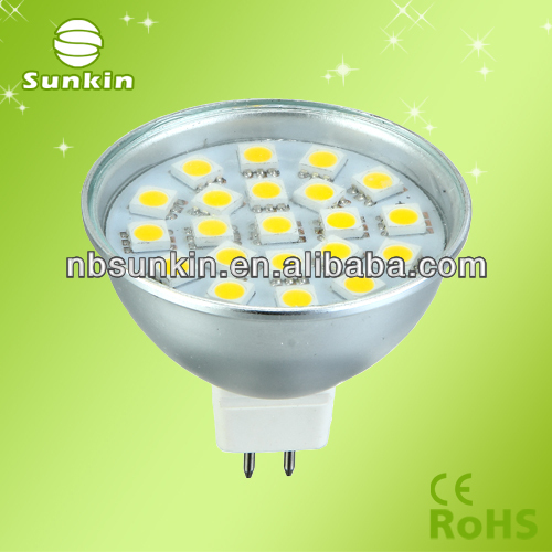 MR16 GU10 3W 4W 5W led spotlight Aluminum casing
