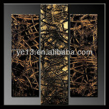 SN-2 Guangzhou Manufacturer directly offer handmade 3 panels roots love canvas oil painting