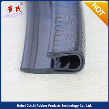 Colorful flexible pvc trim with individual internal metal
