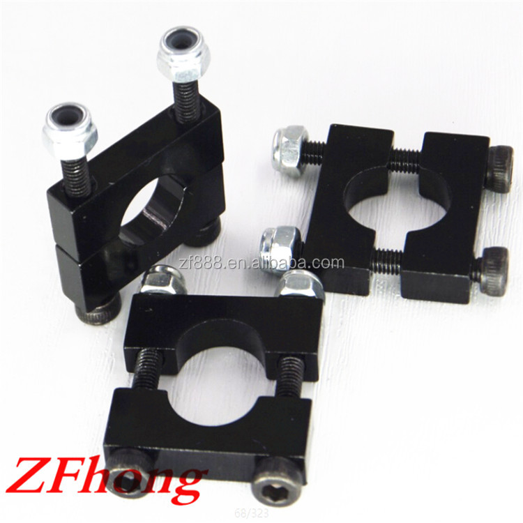 12mm 14mm 16mm 20mm 22mm 25mm red blue silver golden black anodized aluminum carbon tube clamp for fiber pipe