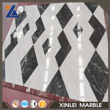 Building materials rigid black marble parquet design