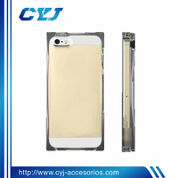 2014 New design Transparency Ice cube PC Or TPU case for i phone5 accessories