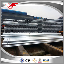 Tianjin Good quality BS 1387 galvanized steel round pipe / GI tube / hot dipped galvanized steel