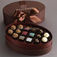 Oval shape chocolate packaging box , chocolate gift box