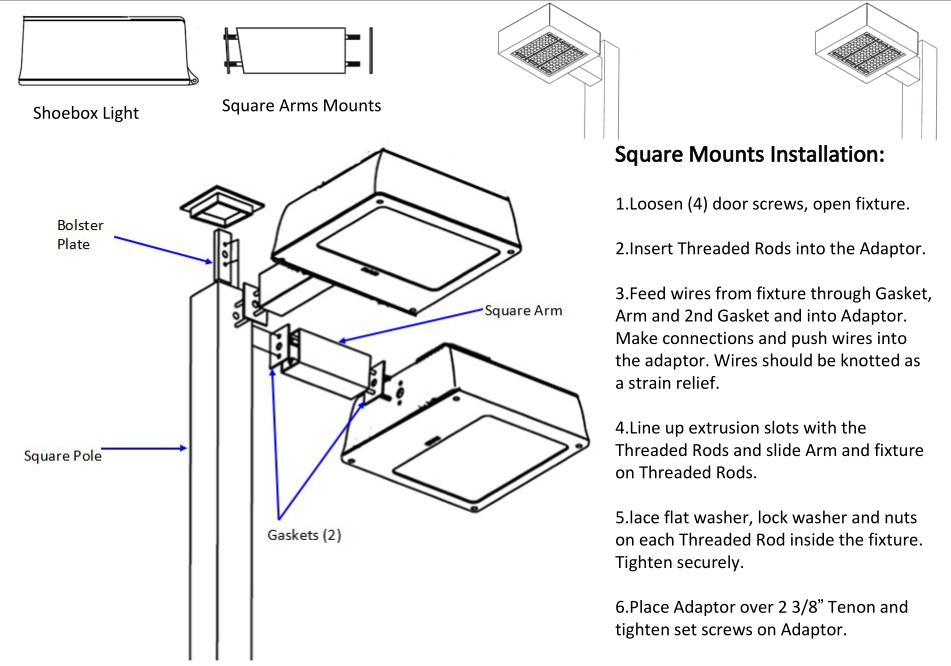 led 150 watt pole mount parking lot flood area lights replace 400 watt metal halide buy led