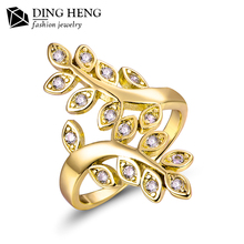 Fashion Yellow Gold Women Fancy New Design Finger Engagement Wedding Ring