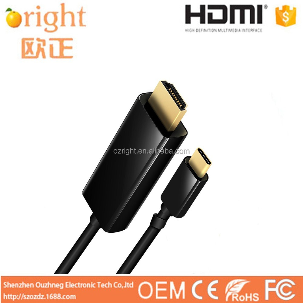 High Speed USB Cable Wholesale USB-C to HDMI Adapter Cable 1.8m/6ft Support 4K*2K