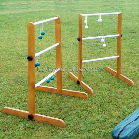 Hight Quality Outdoor Game Wooden Ladder Ball Game With OEM serivice