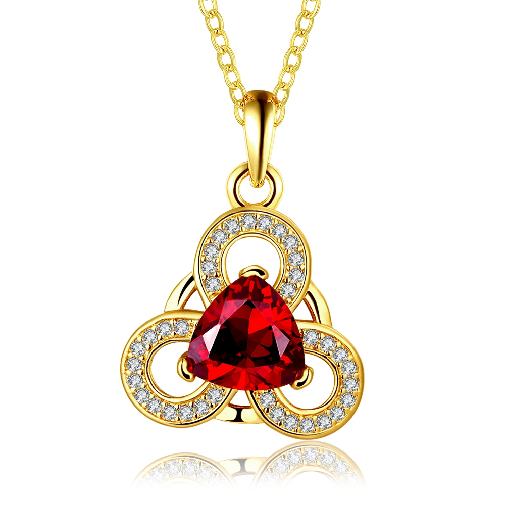 2017 wholesale natural zircon necklace rose gold chain ladies jewelry women necklace