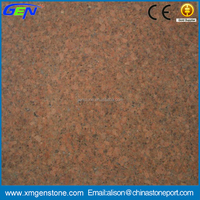 High quality hot sale moistureproof prearl red elevator granite texture tile