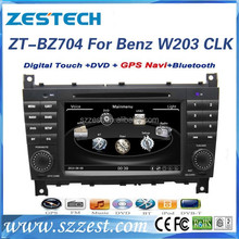 ZESTECH 7 inch for mercedes benz c-class w203 car dvd player with double din 2004-2007