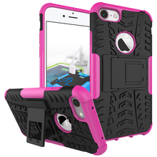 Anti-slip stand stealthy protective case for Apple iPhone 8 iPhone 7 4.7'