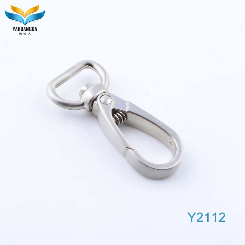 Fashion decoration zinc alloy handbag key chain handle swivel hooks