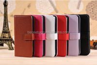 simple stylish PU leather hot sell smart cell phone pouch
