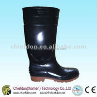 good quality PVC transparent safety custom rain boots for worker