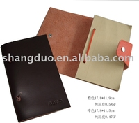 brown color notebook 100% genuine Leather cover