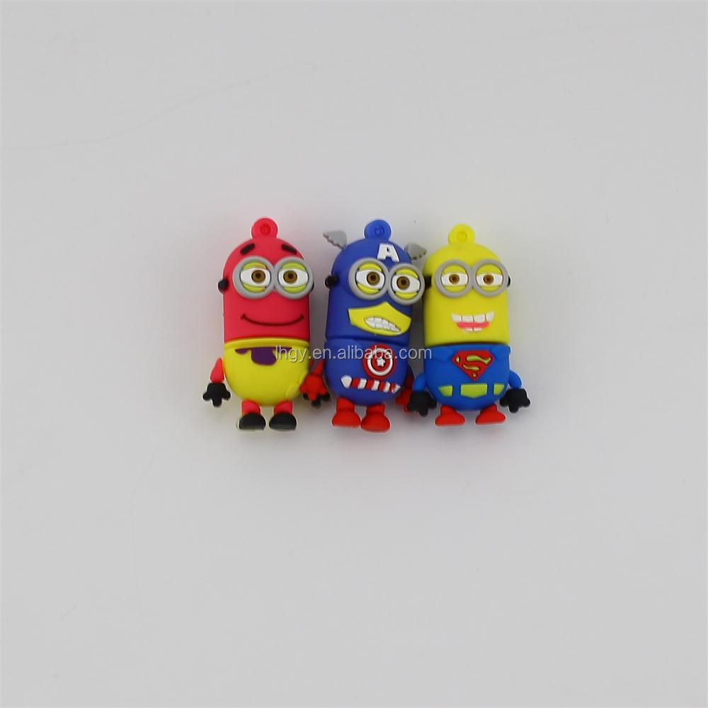 Promotion gift minions usb stick novelty minion 3d usb pen drive 32gb