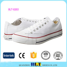 New Style 2017 White Colour Classics Student Canvas Shoe For Woman