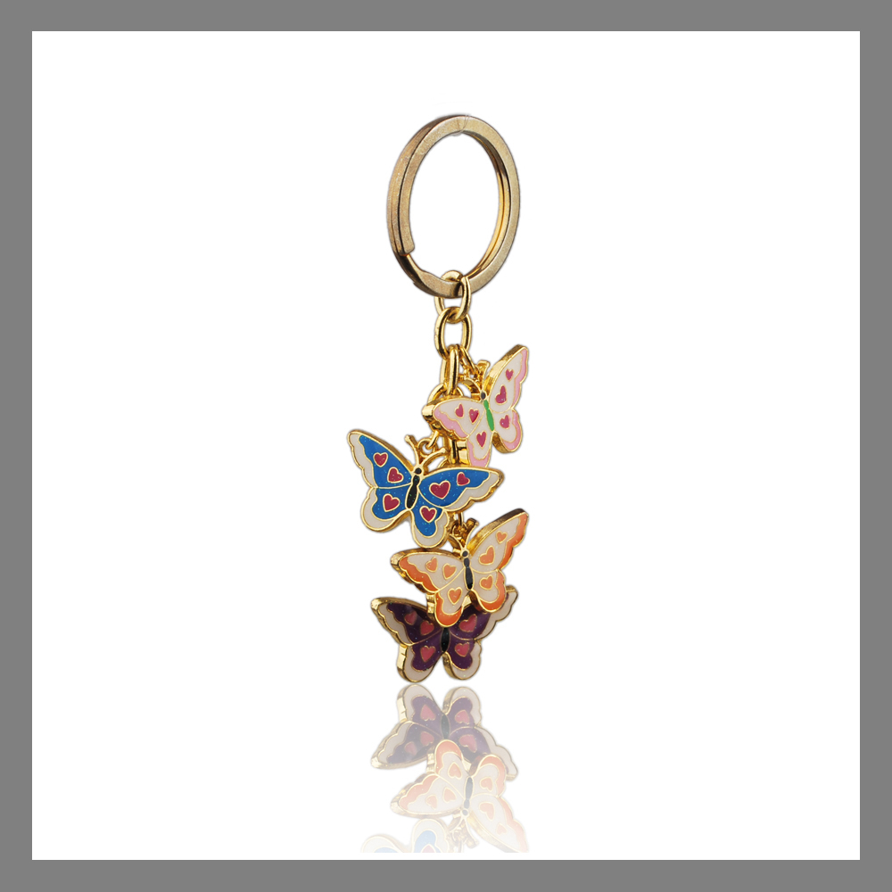 Sedex audit factory custom metal butterfly shaped charm for keychain