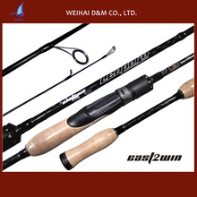 CAST2WIN carbon fiber spinning fishing rod for bass fishing