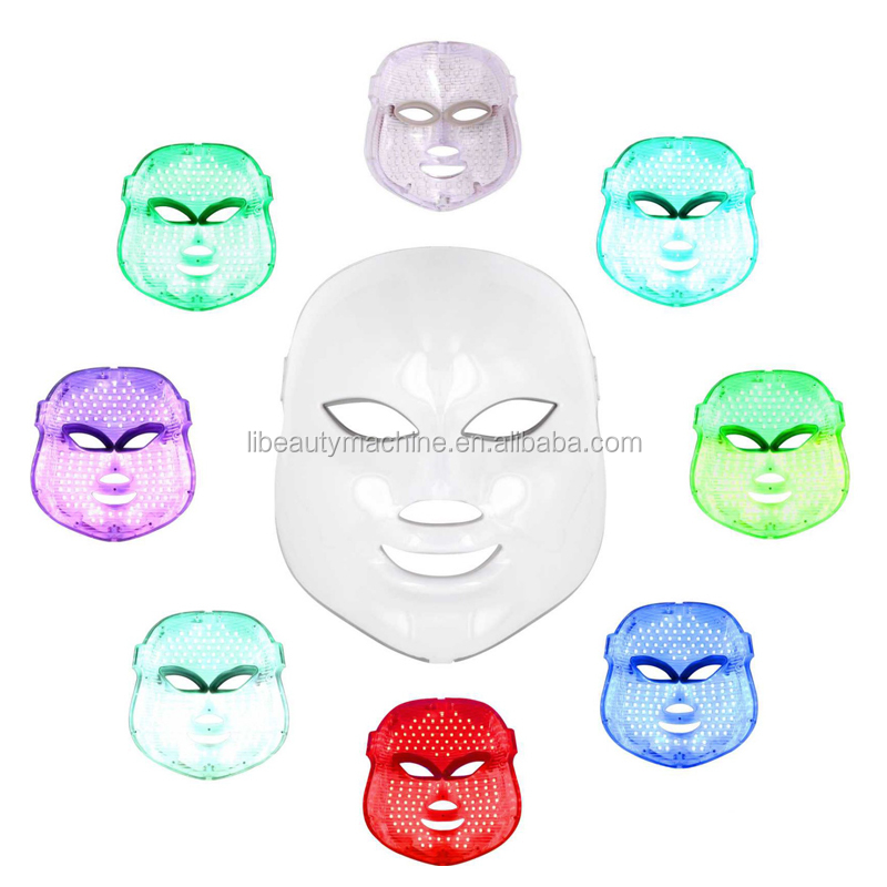 High Quality Skin Rejuvenation IPL light Therapy Acne Treatment 7 Colors PDT LED Facial Mask