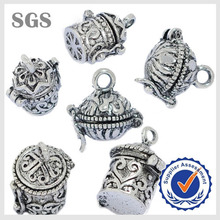 Ancient antique silver censer design engraved prayer box locket
