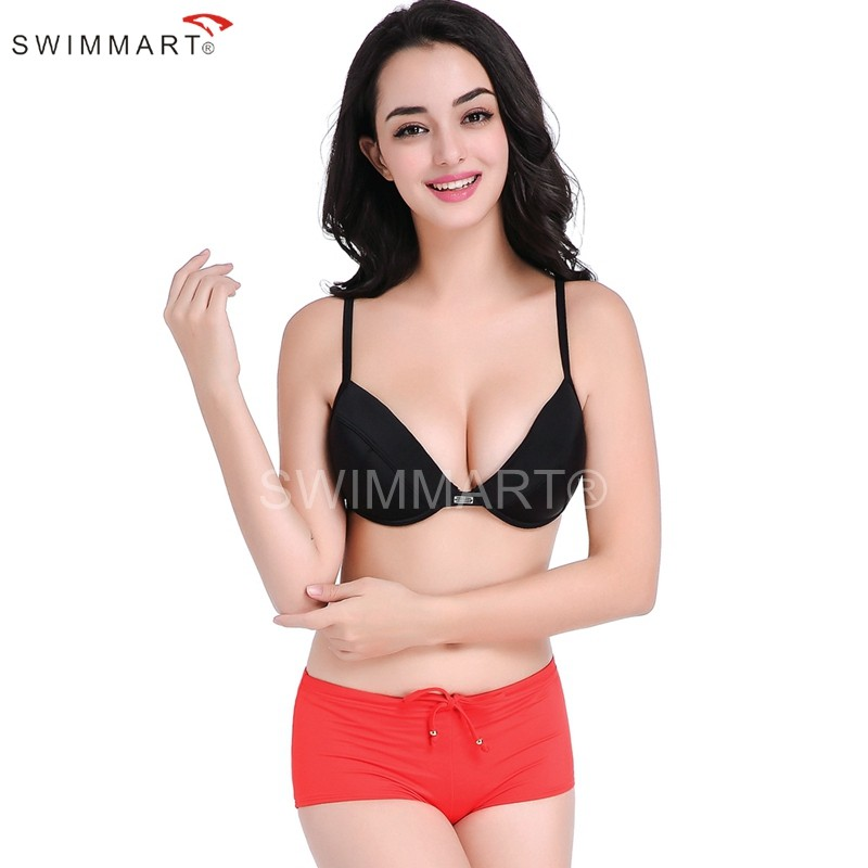 Underwired Bra Double Layer Pad Top Fully lined Two Piece Swimwear Bikini set