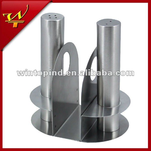 Stainless Steel Salt and Pepper set with Napkin Holder