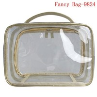 Waterproof transparent pvc contents cosmetic bag toiletry bag