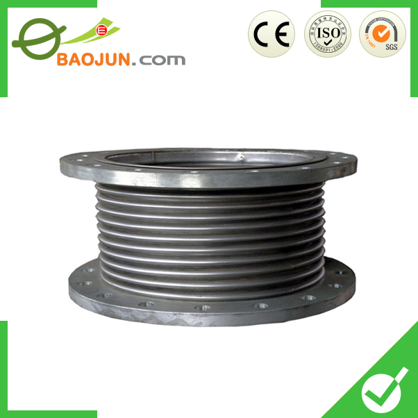 Flexible stainless steel metal bellows view