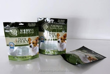 three side seal pet food stand up zipper packaging bag