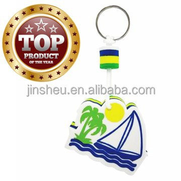 Promotional gift floating eva foam custom buoyant keychain