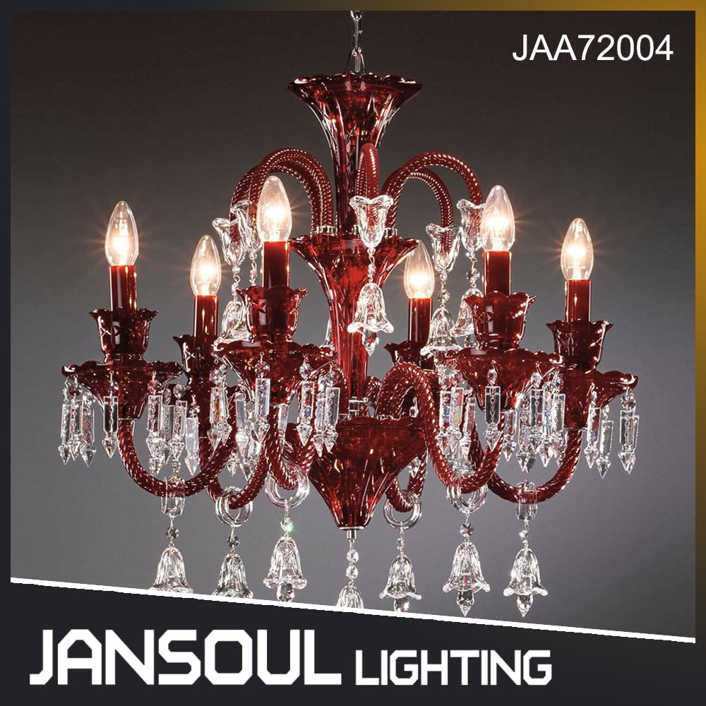 Hot Sale Elegant Red Chandelier with UL CE SAA