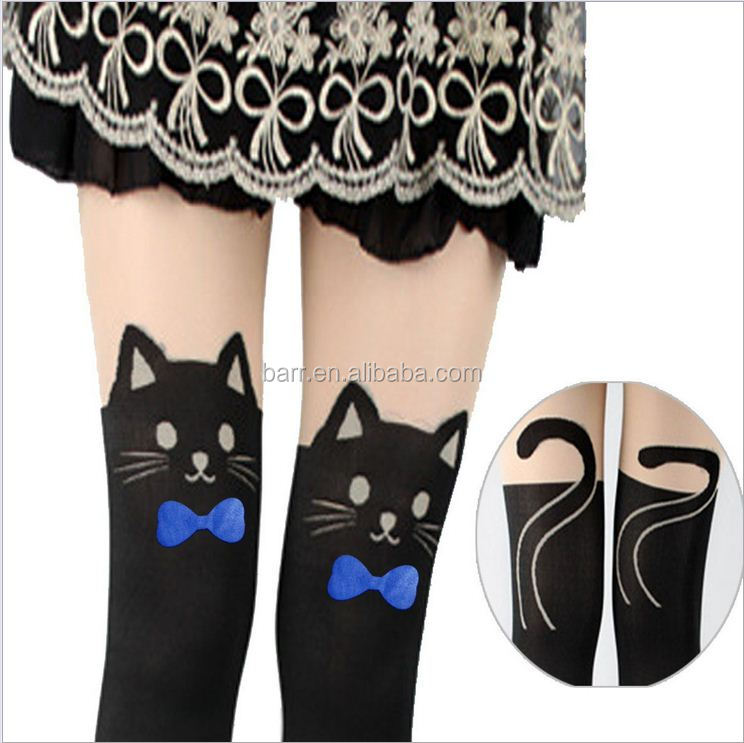 112501 Spring autumn summer bear cat designs pantyhose for girl pants