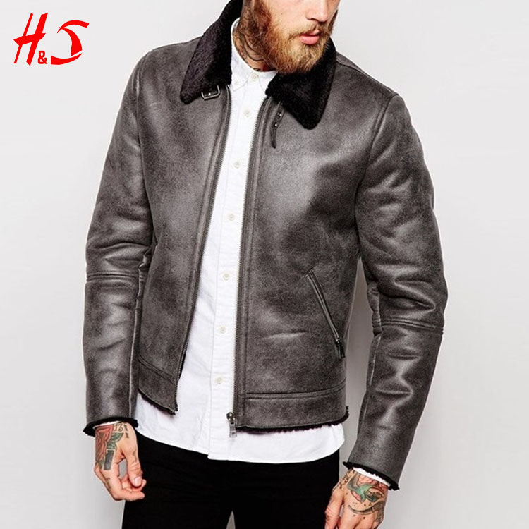 Man wear wholesale supplier latest pakistan leather jacket harrington mens faux suede jacket/coat