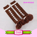 Wholesale Kids Football Brown Leg Warmers Colors Chiffon Ruffled Baby Football Leg Warmers In Stock