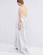 Hot Beautiful Overlay Fishtail Maxi Evening Dress Backless Bandeau Fitted Evening Dress