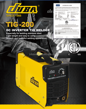 JUBA PROFESSIONAL DC INVERTER HIGH FREQUENCY TIG WELDING MACHINE TIG200