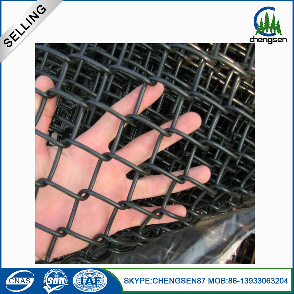 Dutch weave style protecting mesh application chain link fence