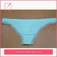 OEM high sell 100%nylon sexy seamless pure color fashion style tanga t-back g-string underwear panties made iin china