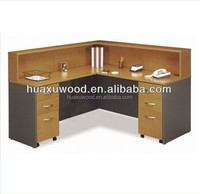 HX-MZED52 L-shape perfect design wooden staff desk