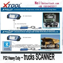 FAW truck scanner & PS2 HEAVY DUTY universal truck diagnostic tool & Wireless bluetooth